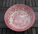 Saladier faience anglaise rose n°8066
