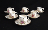 Lot de 6 tasses a café en porcelaine n°6361