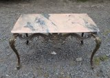 Ancienne table basse / marbre / bronze / n°8745