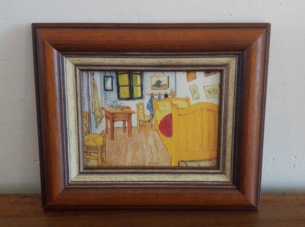 cadre tableau repro sur toile van gogh chambre n 6409 miroirs cadres peintures. Black Bedroom Furniture Sets. Home Design Ideas
