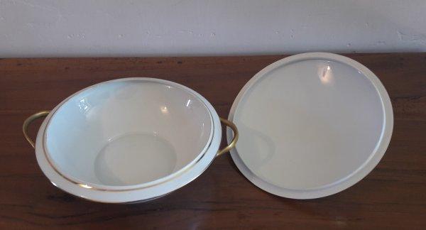 Soupi re limoges lauriers or n 6495 vaisselle for Linge de maison limoges