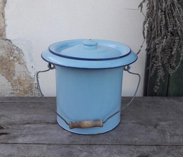 Pot de chambre vintage t le maill e bleue n 7616 t les - Pot de chambre antique ...