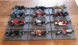 Lot de 12 motos miniatures pour collection n°7889