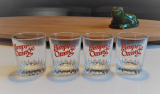 Lot de 4 verres vintages Pampr orange n°4952