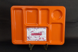 Plateau TV vintage /Orange / n°8319